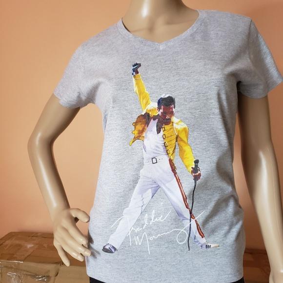 3b6acb871 Tops | Freddie Mercury Yellow Jacket Vneck Tshirt | Poshmark